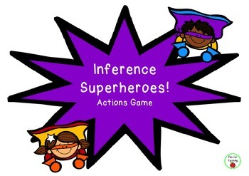 FREE Inferring Actions Game- Inference Superheroes!
