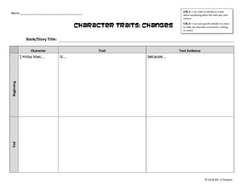 Inferring Character Trait Changes