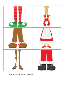 Inferring: (Christmas-themed) Worksheets for Inferring Practice