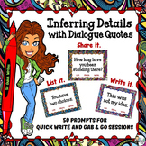 Inferring Details with Dialogue Quotes: 50 Gab & Go and Qu