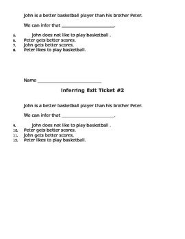 Inferring Exit Tickets