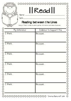 Inferring Guided Reading Strategy Worksheets
