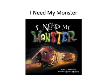 "Inferring: ""I Need My Monster"" book companion FREEBIE"