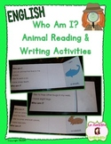Who Am I?: Animal-Themed Reading, Writing, and Inferring Activities (English)