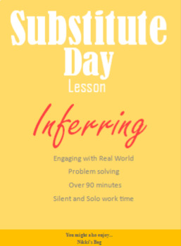 Substitute lesson, Inference, Guided, Mini lesson, Literacy,