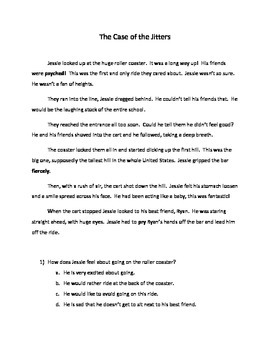 Inference Questions- The Case of the Jitters