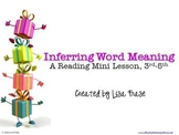 Inferring  Word Meaning Reading Mini Lesson with Independent Practice Worksheet