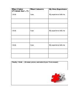 Inferring  Worksheet