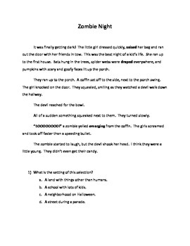 Inference Questions- Zombie Night