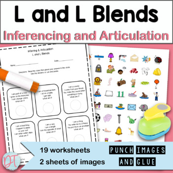 Articulation Activity with Inferences: L and L Blends