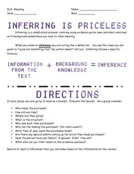 Inferring is Priceless