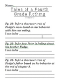 Inferring using Tales of a Fourth Grade Nothing by Judy Blume