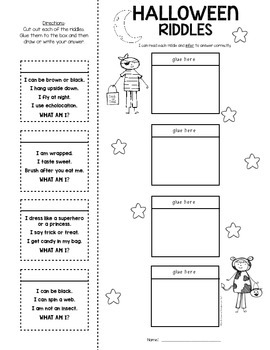 Inferring Riddles: {Lift the Flap!} Halloween Kindergarten & First Grade