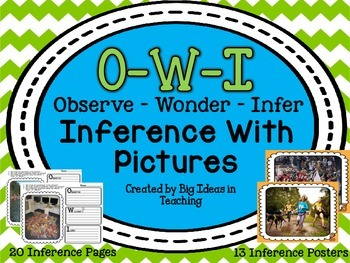 Inferring with Pictures OWI Observe Wonder Infer Activities...LOADED!!