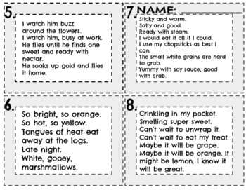 Inferring with Poetry Task Cards