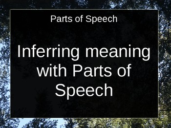 Inferring Meaning with Parts of Speech