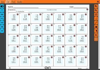 Infinisheets Demo - Free 2nd/3rd Grade Math Worksheet Generator