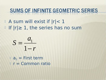 Infinite Geometric Series