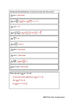Infinite Trigonometric Limits
