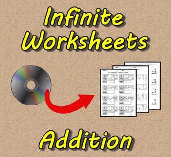 Infinite Worksheets: Addition  (Math Worksheet Generator S