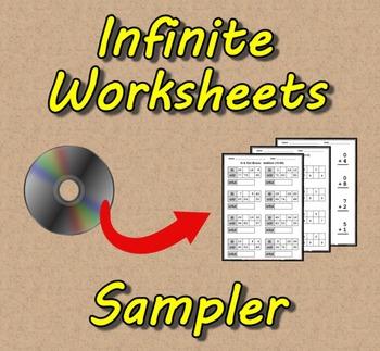 Infinite Worksheets: Sampler (Math Worksheet Generator Software)