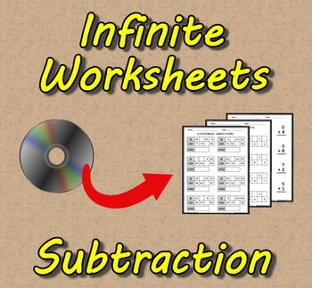 Infinite Worksheets: Subtraction (Math Worksheet Generator Software)