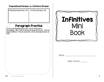 Infinitives Mini Booklet
