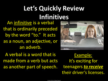 Infinitive Phrases Review Game