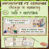 Infinitive vs -ing form (change in meaning)