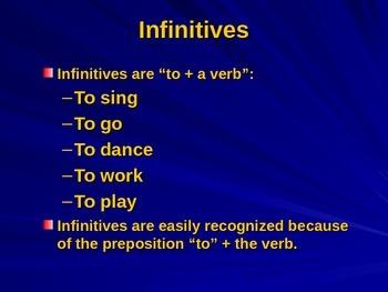 Infinitives PPT