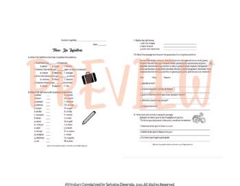 Infinitives Worksheet
