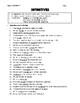 Infinitives - Worksheet & Answer Key