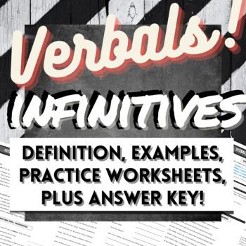 Grammar Verbals Worksheets: INFINITIVES
