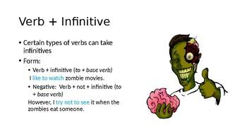 Infinitives after Verbs PPT