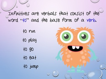 Infinitives and Their Functions PowerPoint - Common Core aligned