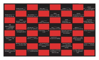 Infinitives of Purpose Checker Board Game