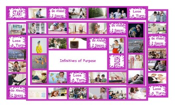 Infinitives of Purpose Legal Size Photo Board Game