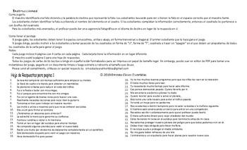 Infinitives of Purpose Spanish Legal Size Photo Tic-Tac-Toe-Bingo Game