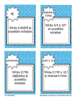Scientific Notation Scavenger Hunt! (Task Cards/Skill Builder Activity)