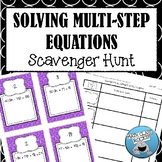 SOLVING MULTI-STEP EQUATIONS - SCAVENGER HUNT! (Task Cards)