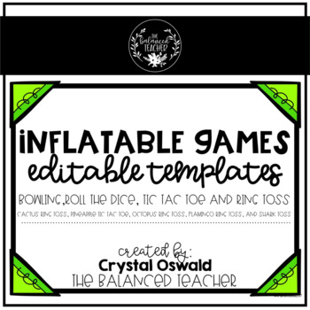 Inflatable Games - EDITABLE template