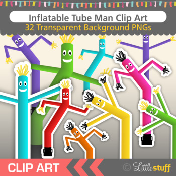 Inflatable Tube Man Clip Art, AirDancers, Fly Guys, Sky Puppets