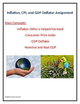 Inflation, CPI, and GDP Deflator (Double Assignment) w/ Answer Key