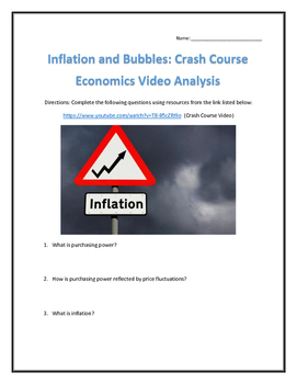 Inflation and Bubbles: Crash Course Economics- Video Analysis with Key