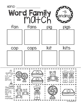 Inflected Ending -S Activity Pack