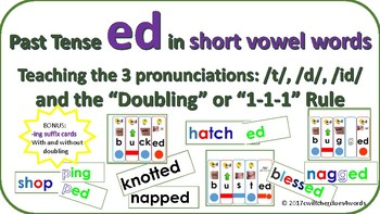 Inflected Ending Word Card (-ed) Activities