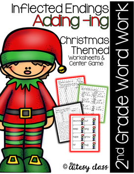 Inflected Endings Adding -ing - Christmas Themed