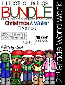 Inflected Endings BUNDLE with Irregular Past Tense Verbs - Christmas