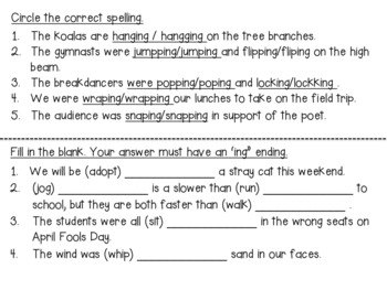 Suffix Bundle: Suffixes -ing AND -ed