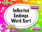 Inflected Endings Word Sort {Differentiated} + Seat work